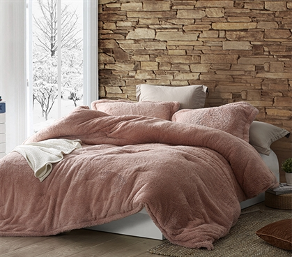 Coma Inducer Twin XL Comforter - The Original Plush - Sepia Rose