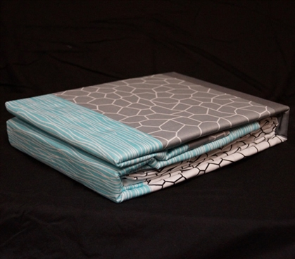 Twin XL Sheet Set Dove Aqua - College Ave Designer Series