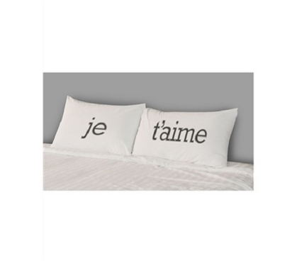 College Pillowcases - Je T'aime (2-Pack)