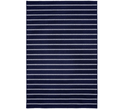 Classic Stripes College Rug - Navy - 5' x 7.5'