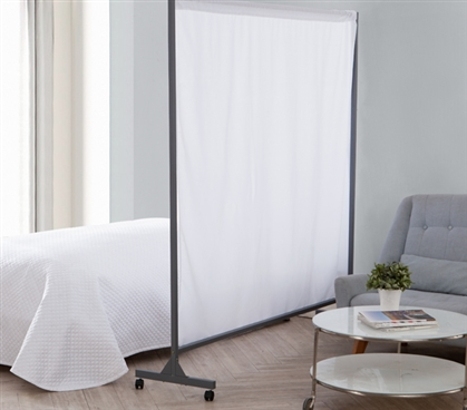 Don't Look At Me - Privacy Room Divider - Gray Frame