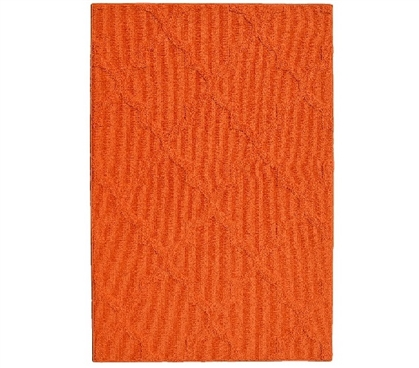 Quatrefoil College Rug - Orange