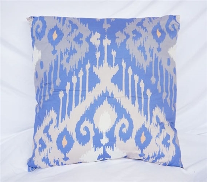 Candelabra - Blue - Cotton Throw Pillow