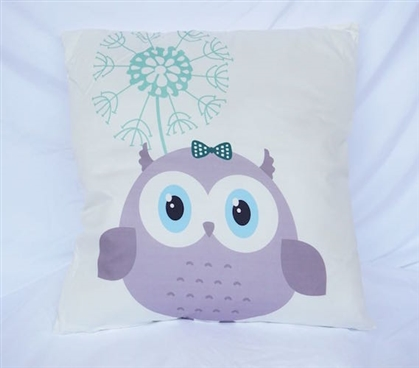 Adorable Owl Friend - Cotton Throw Pillow