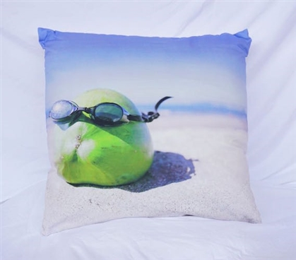 Cool Coconut - Cotton Throw Pillow
