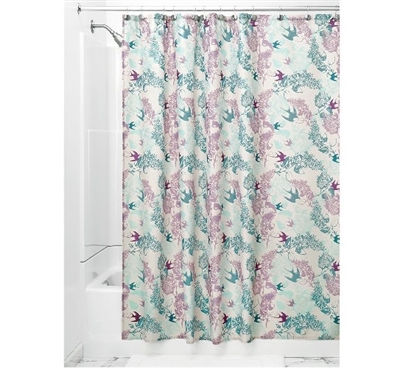 Josie Fabric Shower Curtain - Mint/Lavender