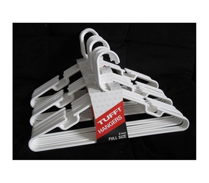 Classic White Hangers 24 Pack (Made in the USA)