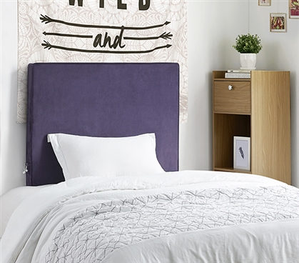 University Transitional Cushioned Dorm Headboard - Plum Root Velvet