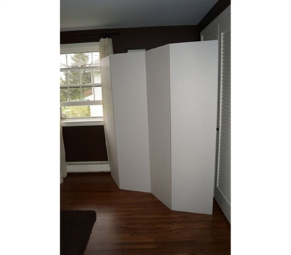 Dorm Divider (Privacy Room Divider) - White
