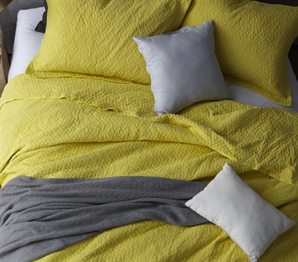 Softest Stone Washed Quilt - Limelight Yellow - Twin XL