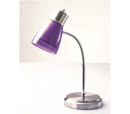 Gooseneck College Desk Lamp - Purple